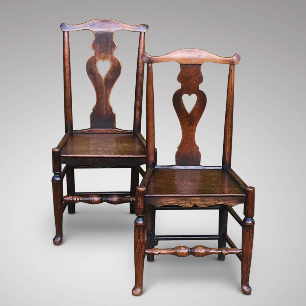 A Matched Pair of Welsh Oak Side Chairs - Hobson May Collection - 5