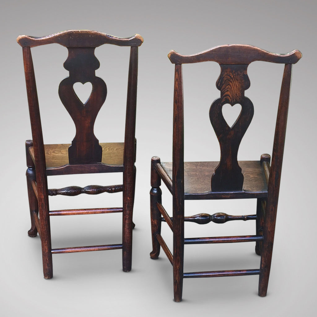 A Matched Pair of Welsh Oak Side Chairs - Hobson May Collection - 6
