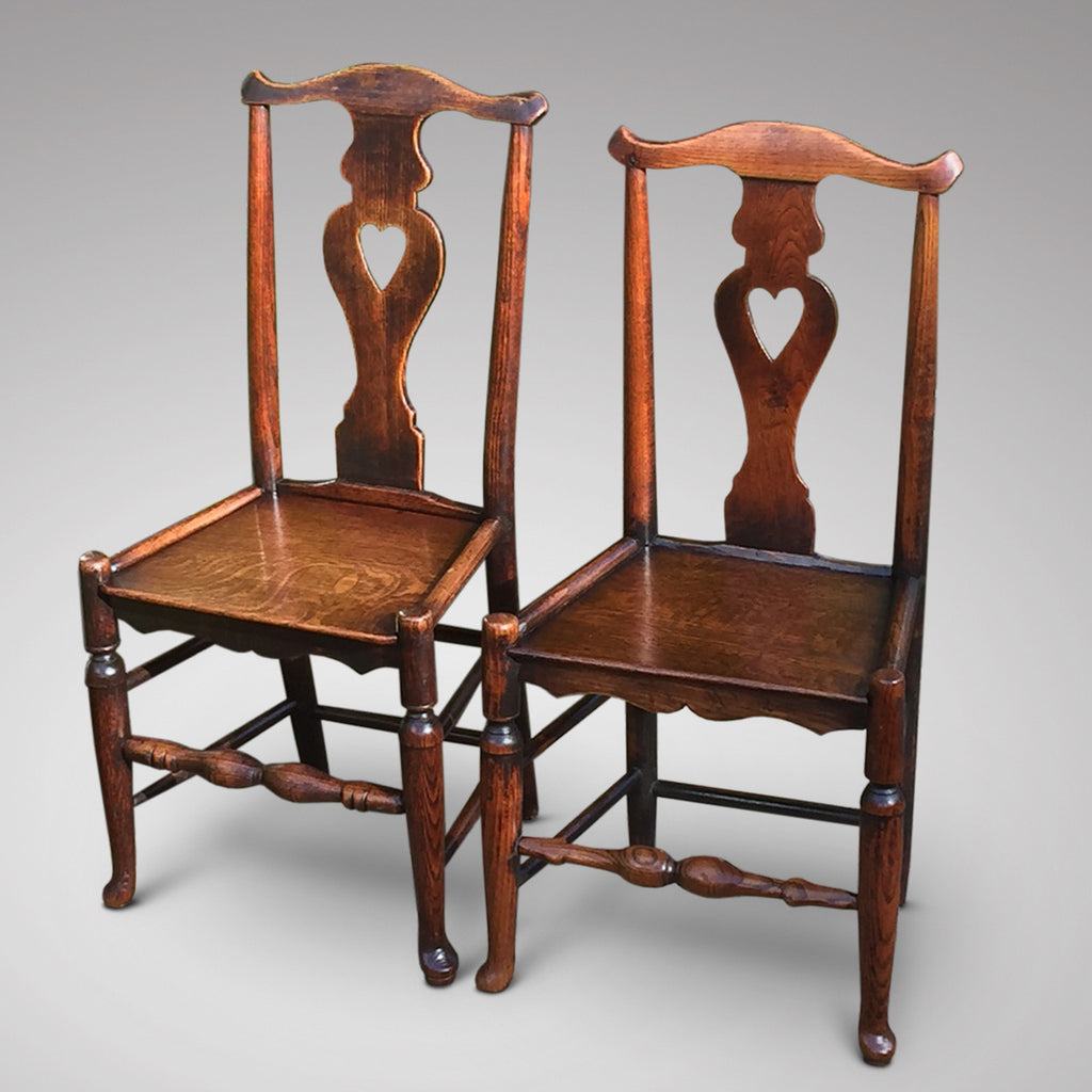 A Matched Pair of Welsh Oak Side Chairs - Hobson May Collection - 2