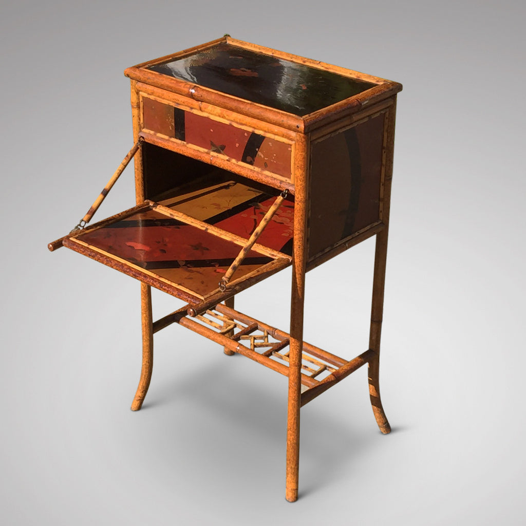 Victorian Lacquered Bamboo Sewing Table - Hobson May Collection - 1