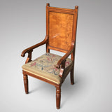 Pair of Oak Arts & Crafts Armchairs - Front & side view - 3