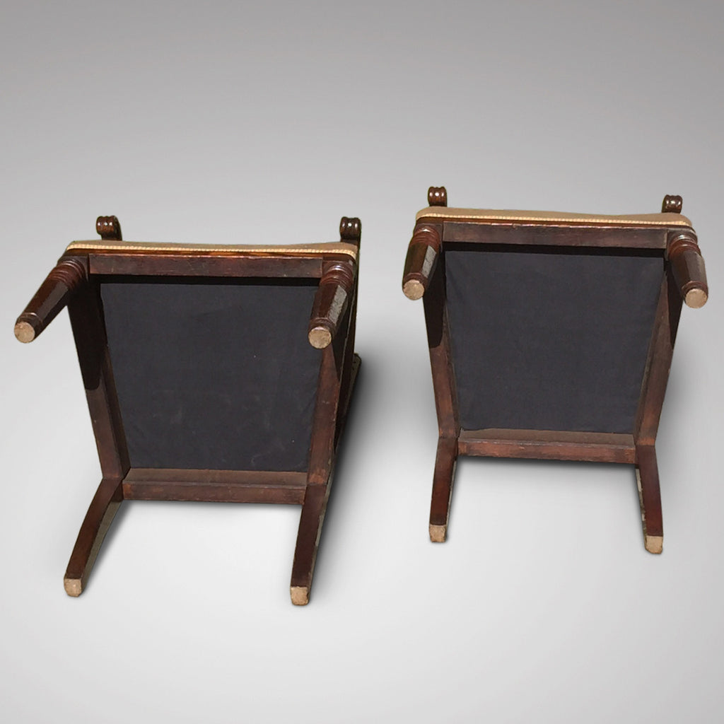 Pair of Oak Arts & Crafts Armchairs - Underside view - 7