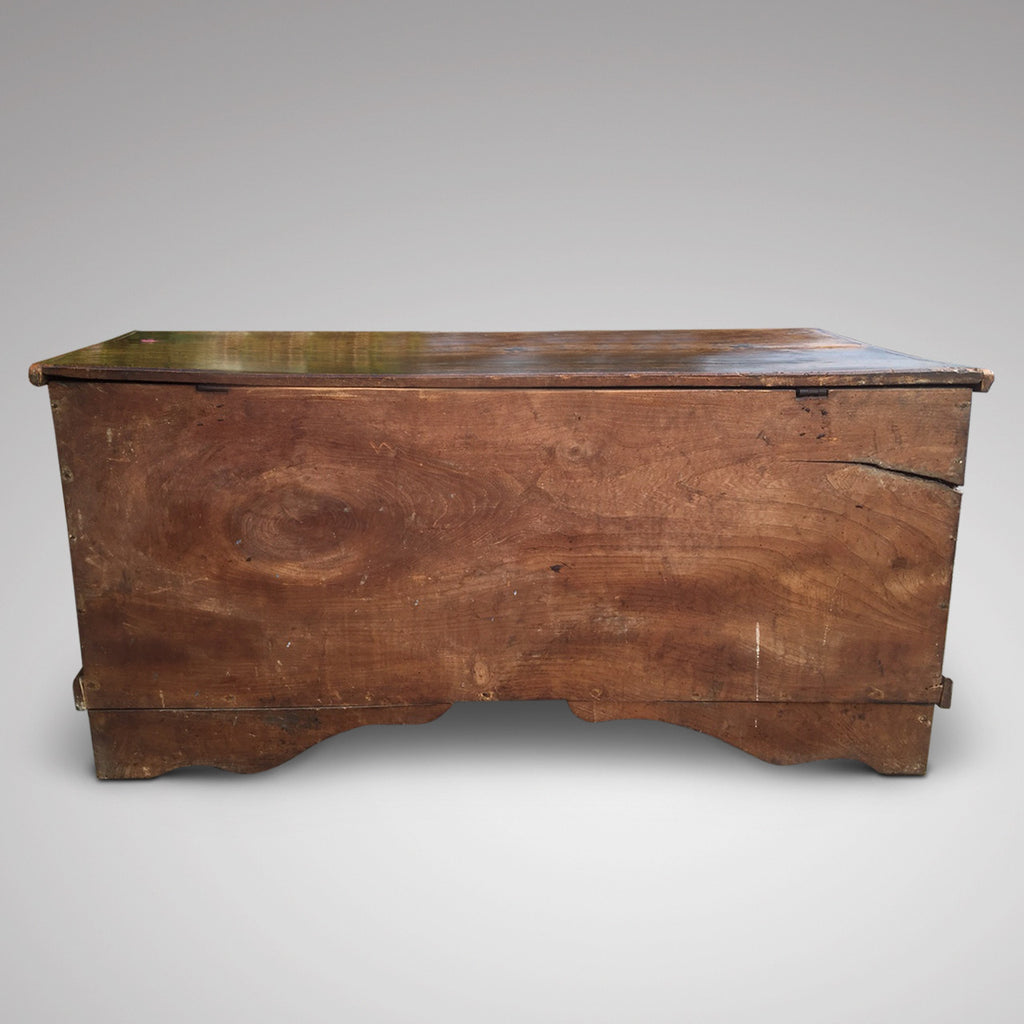 19th Century Elm Coffer - Back View - 4