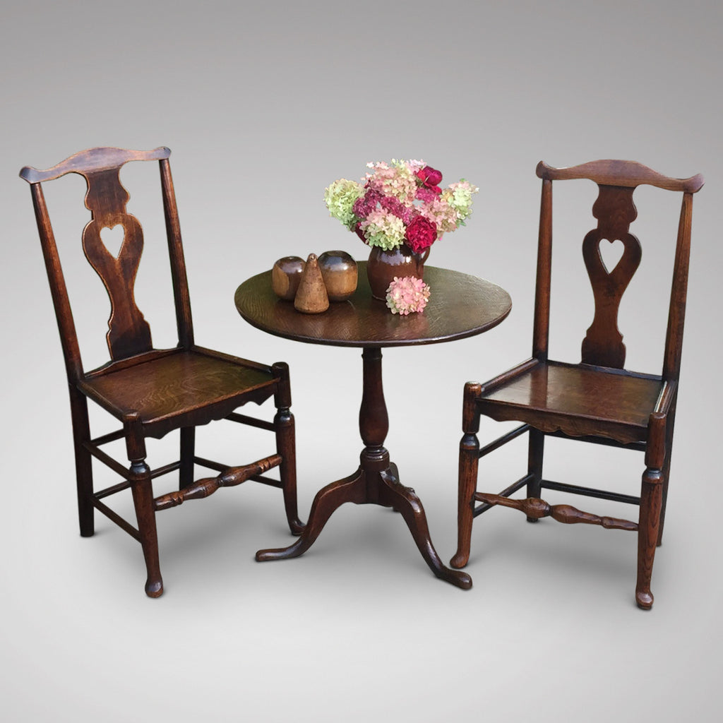 A Matched Pair of Welsh Oak Side Chairs - Hobson May Collection - 1