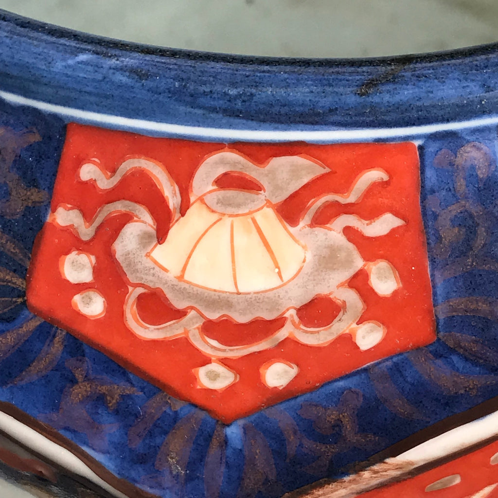 Large Meiji Period Hexagonal Jardiniere - Detail View - 5