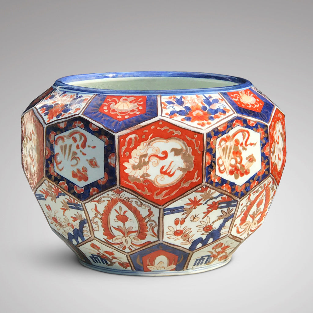 Large Meiji Period Hexagonal Jardiniere - Main View - 1