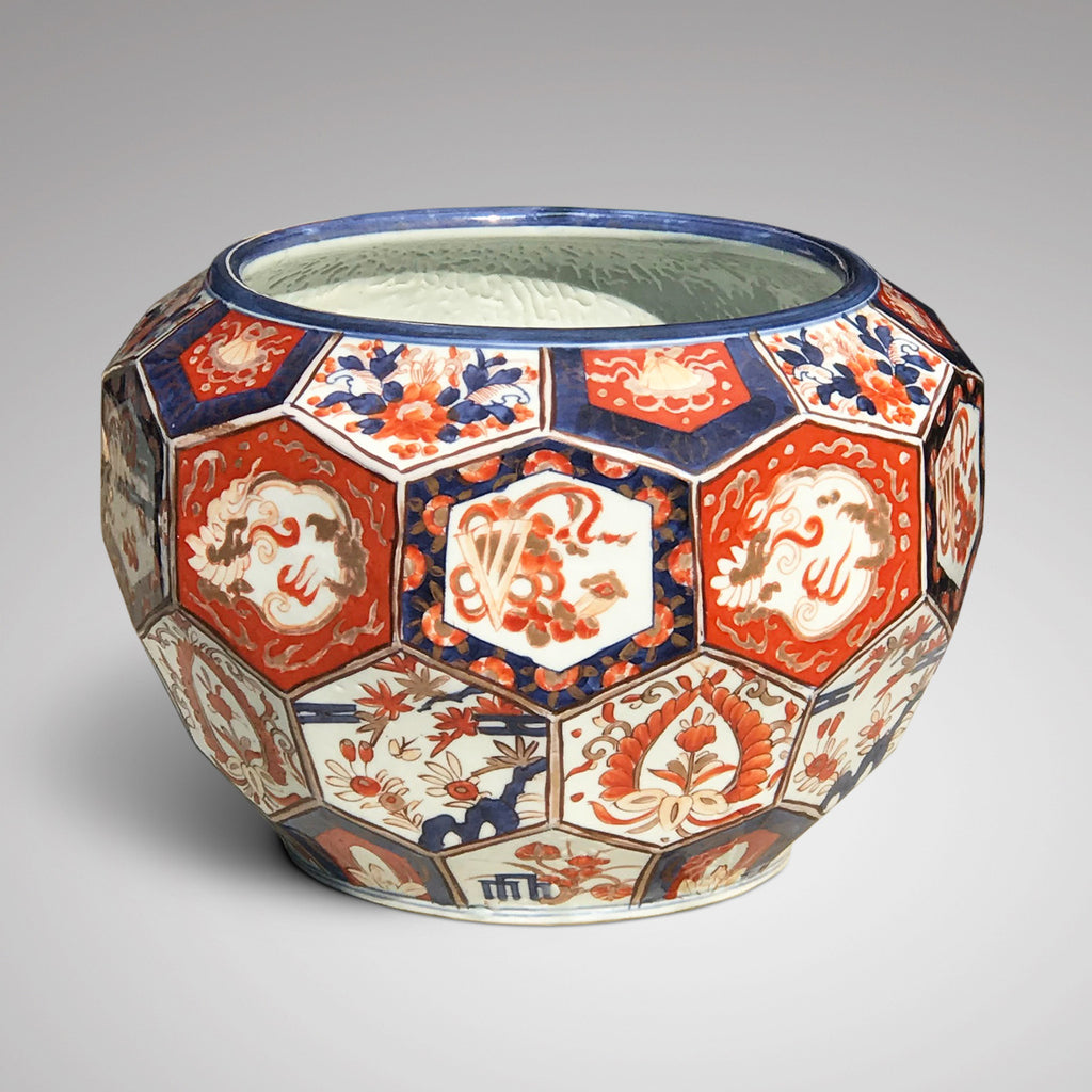 Large Meiji Period Hexagonal Jardiniere - Main View - 2