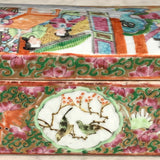 19th Century Chinese Famille Rose Pen Box & Cover - Back Detail View - 5
