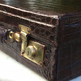 Edwardian Crocodile Leather Dressing Case - Hobson May Collection - 10