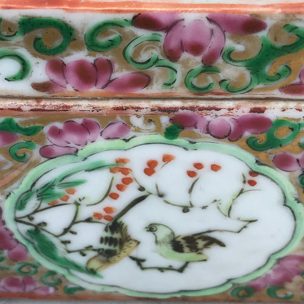 19th Century Chinese Famille Rose Pen Box & Cover -  Detail View - 6