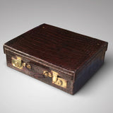 Edwardian Crocodile Leather Dressing Case - Hobson May Collection - 4