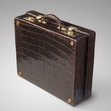 Edwardian Crocodile Leather Dressing Case - Hobson May Collection - 6