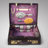 Edwardian Crocodile Leather Dressing Case - Hobson May Collection - 1