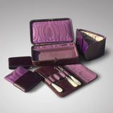 Edwardian Crocodile Leather Dressing Case - Hobson May Collection - 8