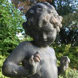 Antique Lead Garden Statue of a Nymph - Detail View of Figure - 3