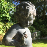 Antique Lead Garden Statue of a Nymph - Detail View of Figure- 6