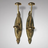 Pair of Victorian Brass Hat & Coat Hooks - Main View - 1