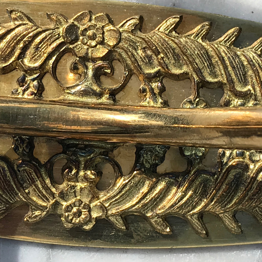 Pair of Victorian Brass Hat & Coat Hooks - Detail View - 3