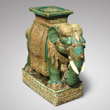 Early 20th Century Oriental Elephant Garden Seat - Front View - 3