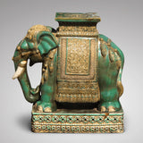 Early 20th Century Oriental Elephant Garden Seat - Side View - 2