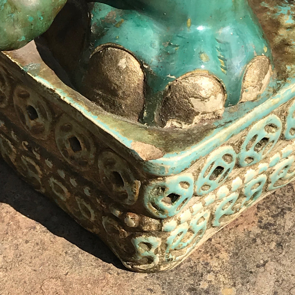 Early 20th Century Oriental Elephant Garden Seat - Base Detail View - 9