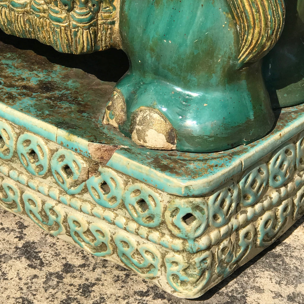 Early 20th Century Oriental Elephant Garden Seat - Back Detail View - 8