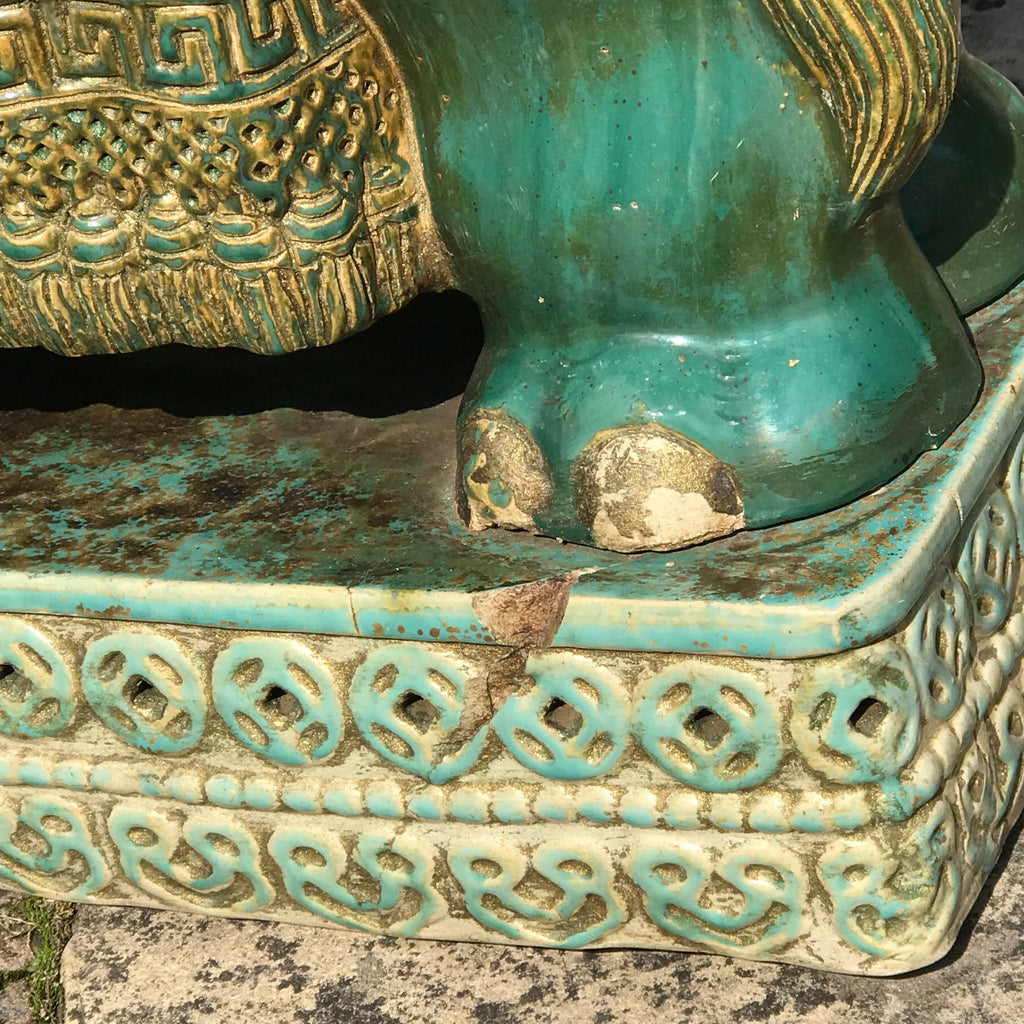 Early 20th Century Oriental Elephant Garden Seat - Base Detail View - 7