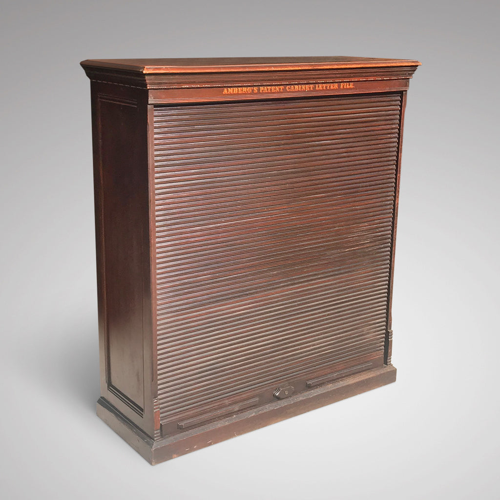 19th  Century Amberg Mahogany Filing Cabinet - Main View - 2
