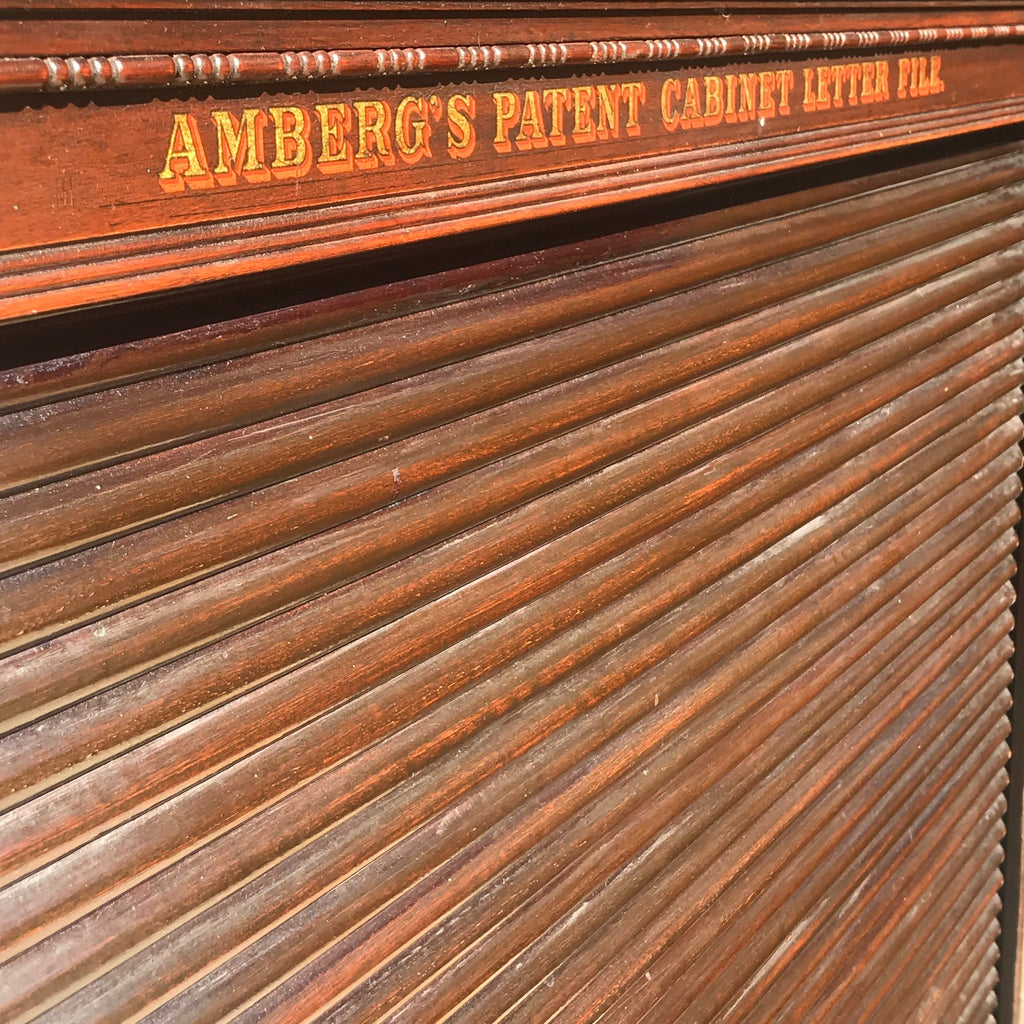 19th Century Amberg Mahogany Filing Cabinet - Detail View - 3