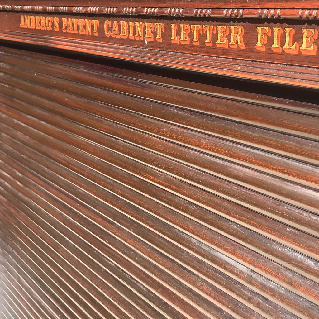 19th Century Amberg Mahogany Filing Cabinet - Detail View - 4