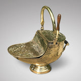 19th Century Brass Coal Scuttle - Side View - 2