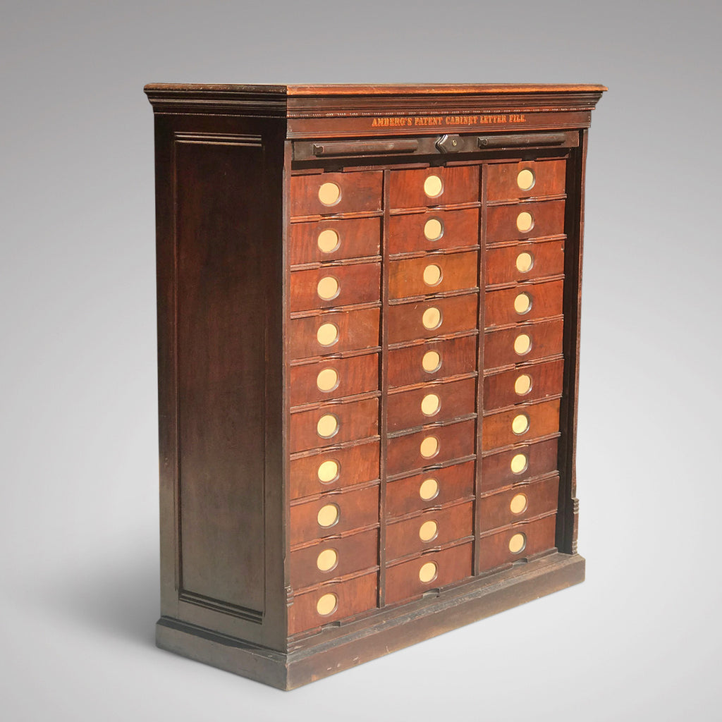 19th Century Amberg Mahogany Filing Cabinet - Main View - 1