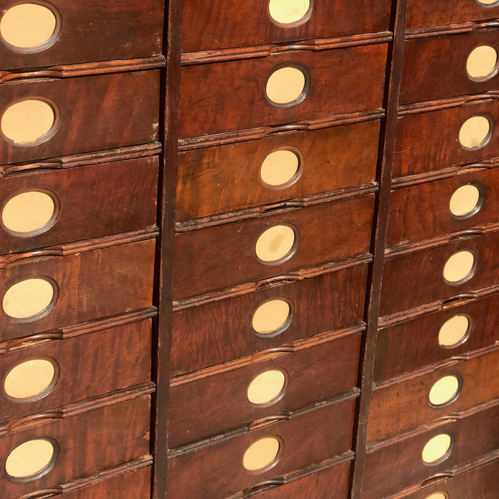 19th Century Amberg Mahogany Filing Cabinet - Detail View - 5