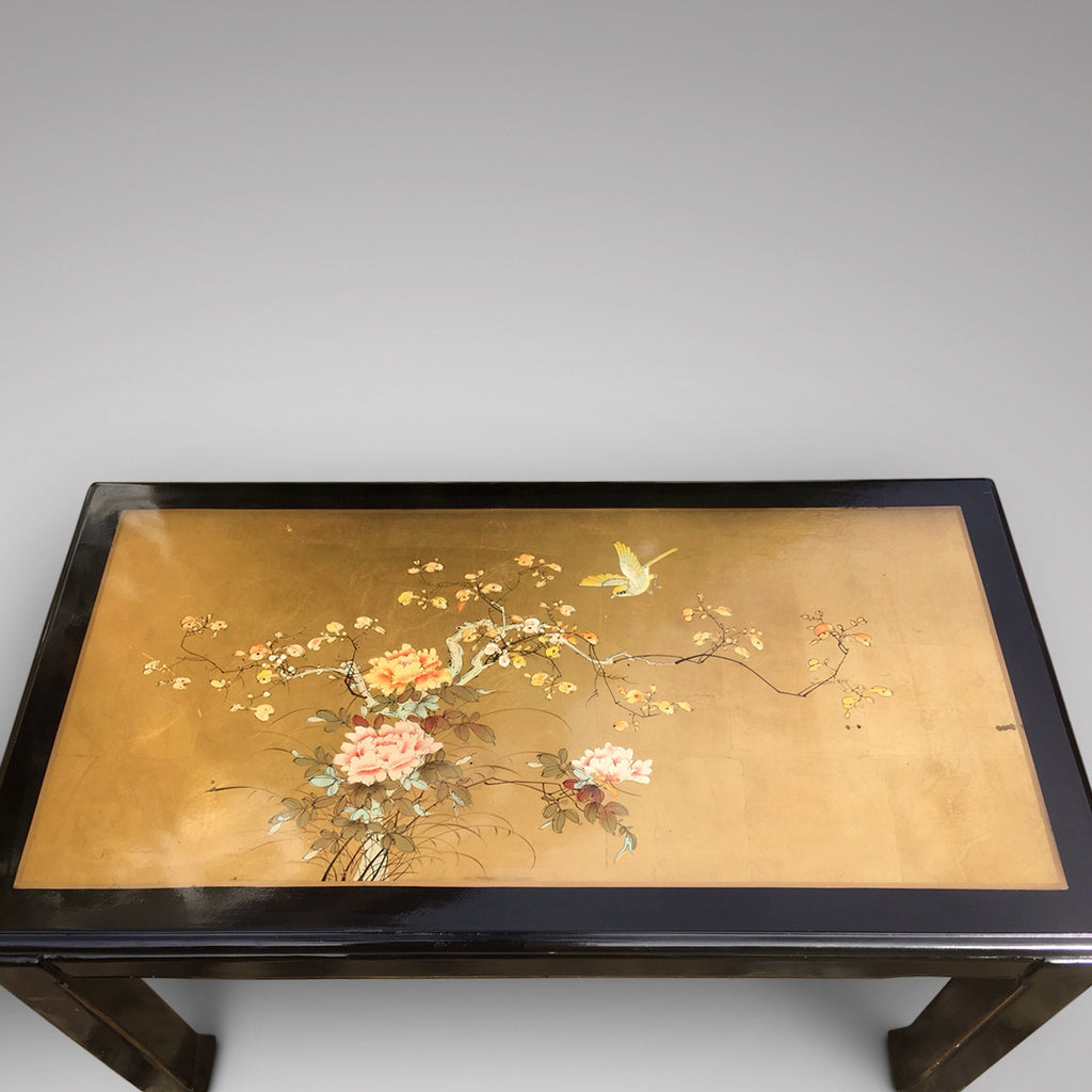 Oriental Lacquered Coffee Table - View of Top - 4