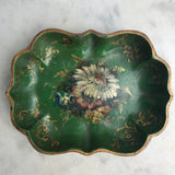 Pair of Victorian Green Papier Mache Dishes - Main View - 4