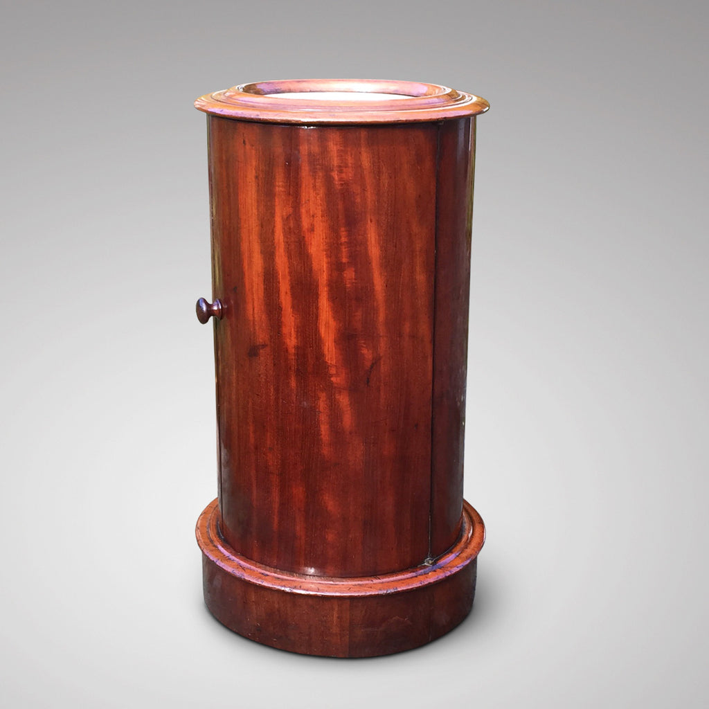 Victorian Mahogany Cylindrical Pot Cupboard- Front View-2
