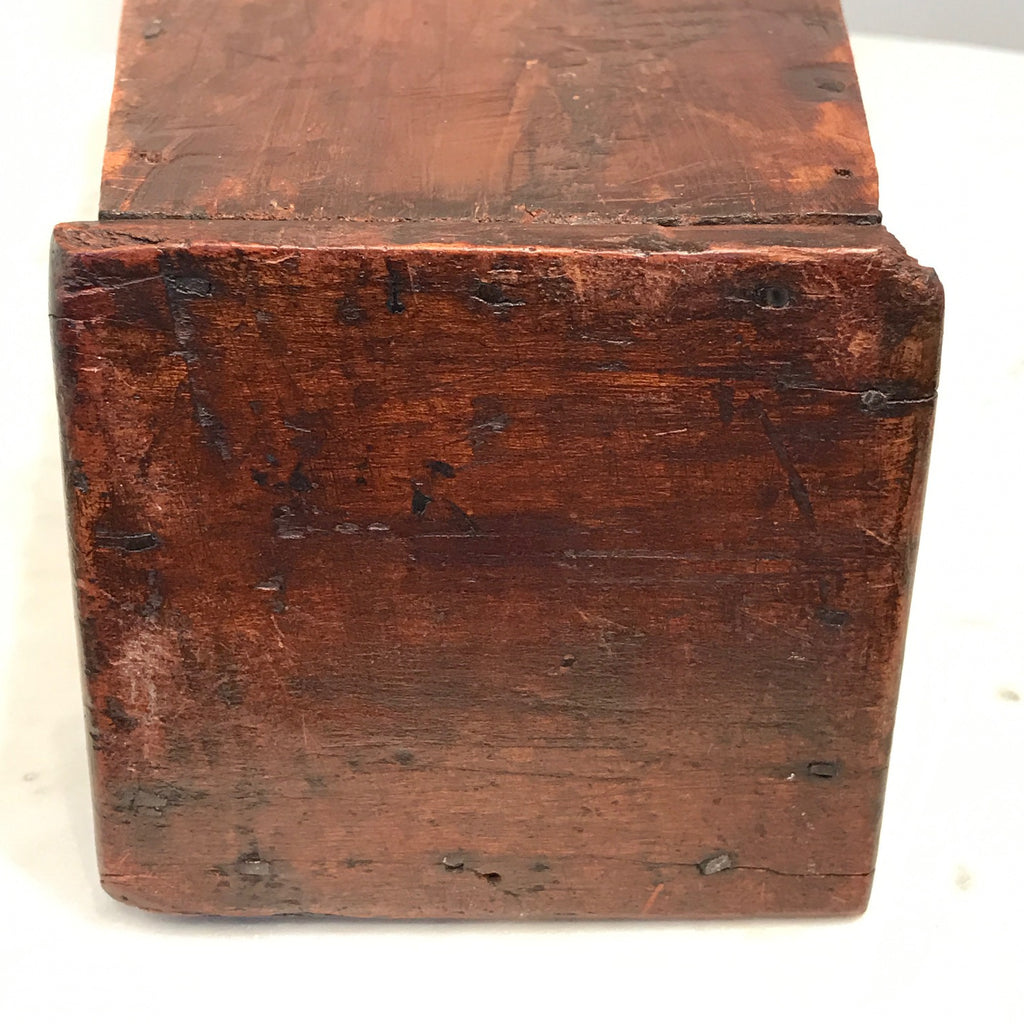 George III Inlaid Welsh Candle/Cutlery Box -View of base 8