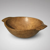 19th Century Sycamore Dairy Bowl - Side View - 2