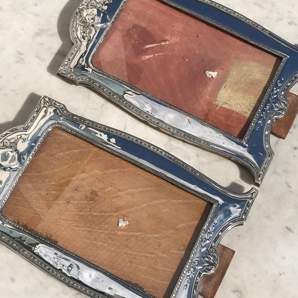 Large Pair of George V Silver Photograph Frames - View of Front  - 11