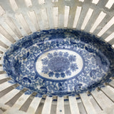 Georgian Blue & white Chestnut Basket - Inside Detail View - 5