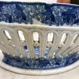 Georgian Blue & White Chestnut Basket - Side Detail View-6
