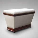 Victorian Mahogany Ottoman of Inverted Form - Hobson May Collection - 3
