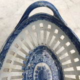 Georgian Blue & White Chestnut Basket- Handle detail-9