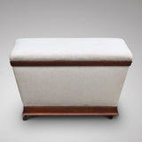 Victorian Mahogany Ottoman of Inverted Form - Hobson May Collection - 2