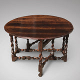 Early 18th Century Oak Gateleg Dining Table - End View - 2