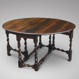 Early 18th Century Oak Gateleg Dining Table -Front View- 3