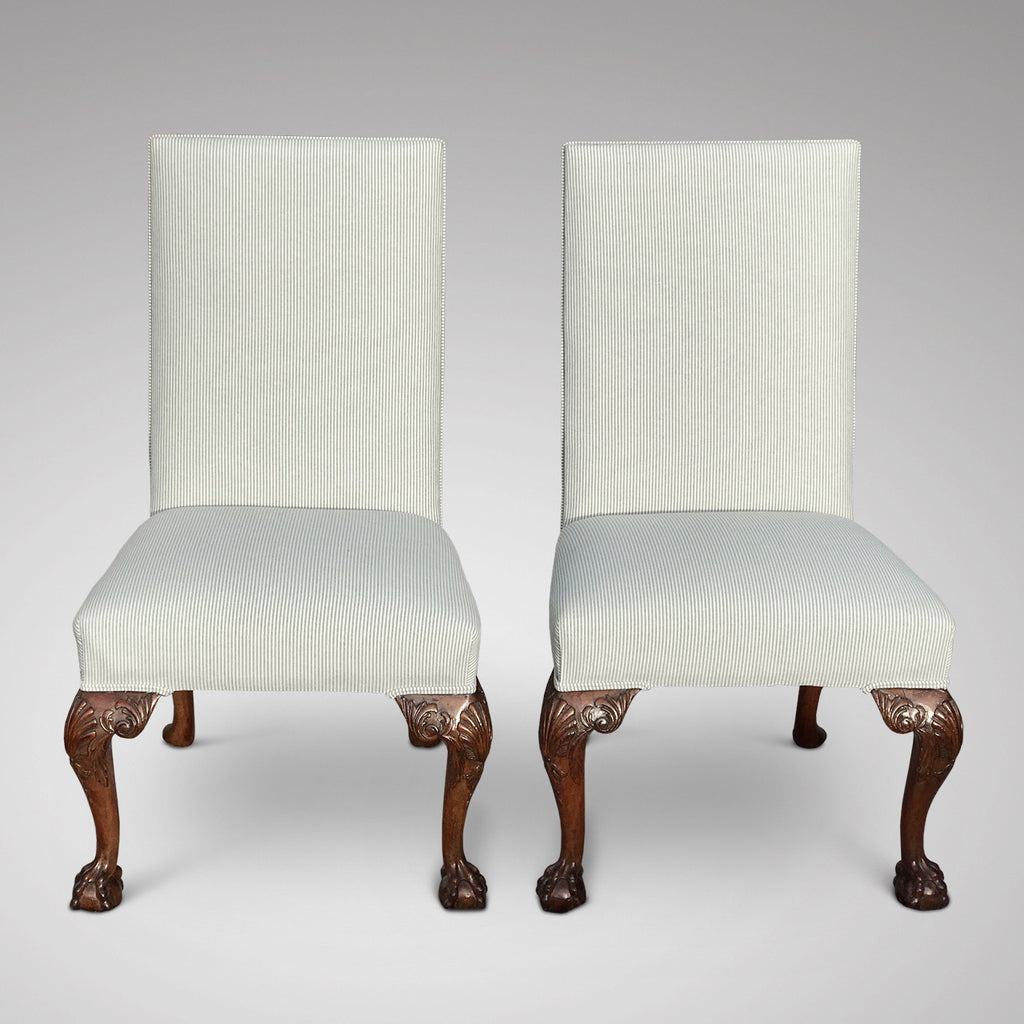 Pair of George II Style Side Chairs - Front View of Chairs-6