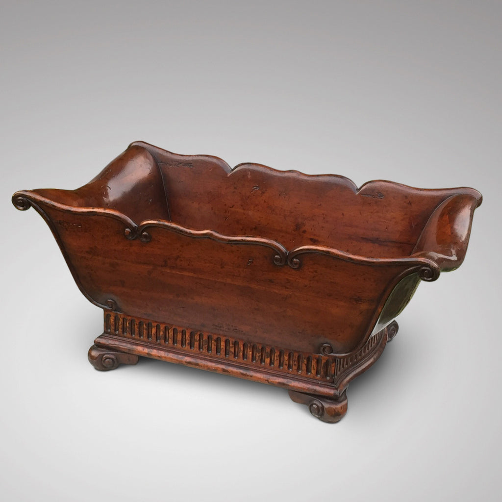 Edwardian Mahogany Jardiniere/Coaster - Front & side view - 2