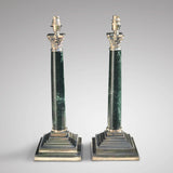 Pair of Early 20th Century Marble Lamps in the Corinthian Style - Main View - 2