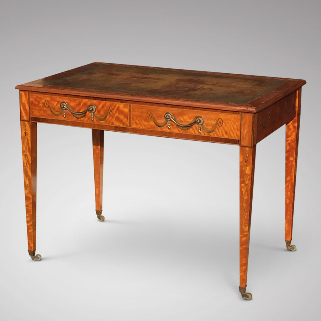 George III Satinwood Library Table - Hobson May Collection - 15
